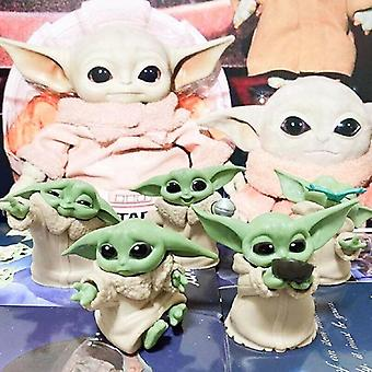 5 stuks Mini Baby Yoda Jedi Master Figure Star Wars Mandalorian Series Actie Speelgoed