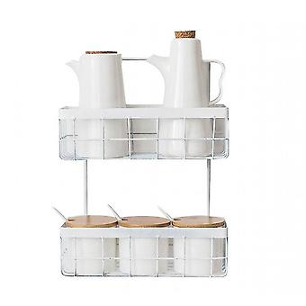 Kitchen And Bathroom Free Perforated Storage Basket(White)