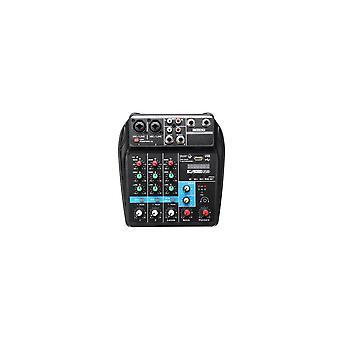 4 kanalen USB Portable Mixer bluetooth Record Live Studio DJ Audio Mixing Console