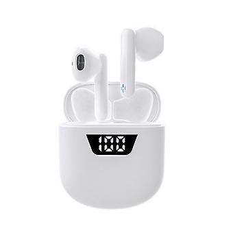 Auricolari wireless V5.0 auricolari, cuffie wireless touch control con tempo di riproduzione di 25 ore, auricolari wireless hi-fi sound con custodia di ricarica, accoppiamento in un solo passaggio per tutti i dispositivi Bluetooth (bianco)
