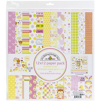"""Doodlebug Double-Sided Paper Pack 12""""X12"""" 12/Pkg - Bundle Of Joy"""