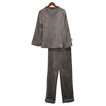 Soft & Cozy Women's Warm V-Neck Pajama Set Gray 670940