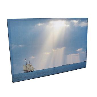Beams Of Hope Printed Canvas Wall Hanging