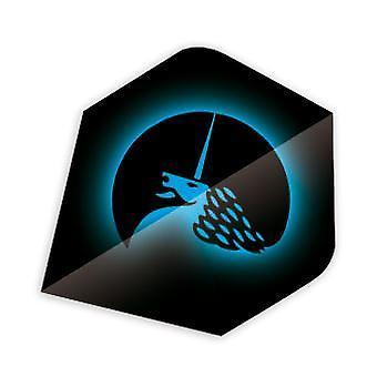 Unicorn Dart Core. 75 micron plus flygningar metallisk Polyflygning Range-blå
