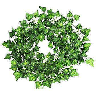 Delux Artificial Trailing Garland Ivy Vine Leaf Fern Plant Foliage 5 Pcs 2.3M