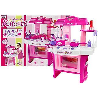 Cuisine jouet - 60 cm - 22 pièces - rose