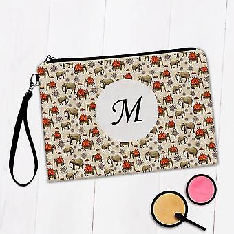 Gift Makeup Bag: Elephants Mandalas Floral