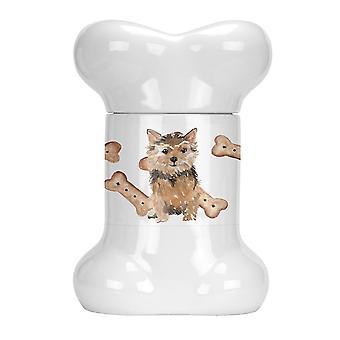 Gift boxes tins carolines treasures ck2360bstj norfolk terrier bone shaped treat jar