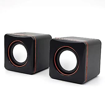 Speakers usb powered stereo speaker  mini size  with control 3.5 Mm audio pc computer speakers black