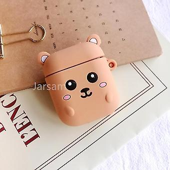 Musical instrument amplifier covers cases cute cartoon 3d silicone earphone case covers for airpods 1 2 gophers