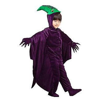 Dinosaurier Kostüme Kinder Halloween Jurassic Park Cosplay Bodysuit mit Handschuhen Schuhe