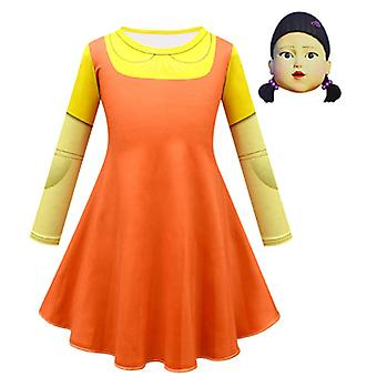 Kalmari peli puku nukke tytöt mekot talvi pitkähihaiset juhlalahjat tytöille 110-150