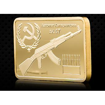 1947 German Ak47 Gold-plated Square Medal Collection Coin Sniper Custom Badge Gold Coin Coin