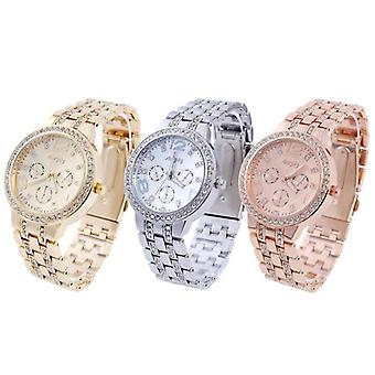 Women Stainless Steel Watches Set Gold, Silver, Rose