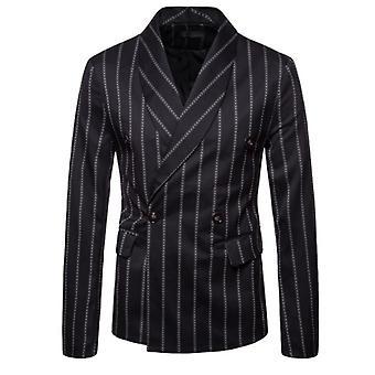 ז'קט חליפה מפוספס לגברים עיצוב פרימיום