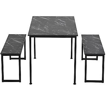 3ピースダイニングテーブルとベンチ