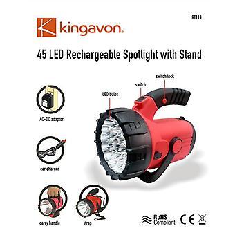 45 LED Spotlight ricaricabile con Stand