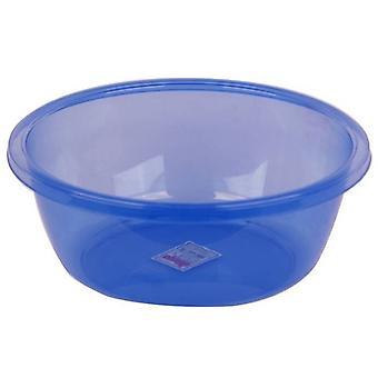 Rodada 29ltr bacia plástica azul pode ser usado para lavar pratos talheres