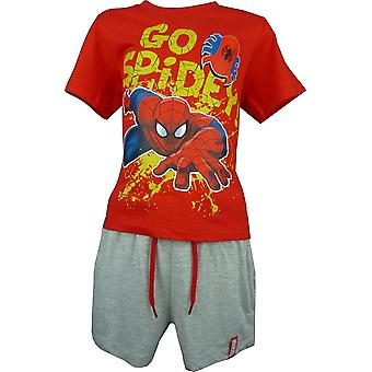 Jongens Marvel Spiderman 2 delige Set T-Shirt & broek OE1533