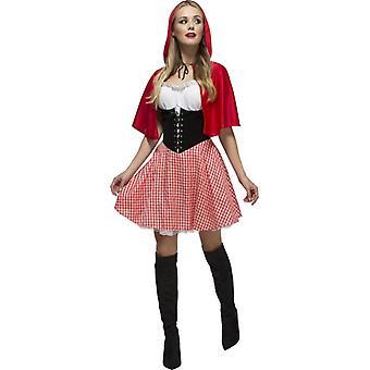 Rotkäppchen deluxe Kostüm Rotkäppchen Kleid Märchen Damen