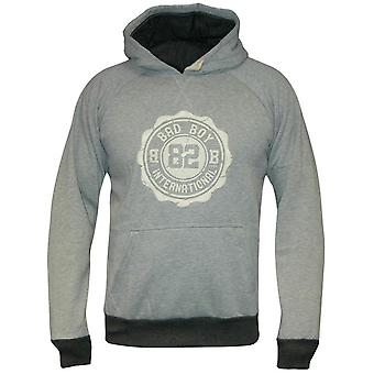 Bad Boy Crest Hoodie - graue Mergel
