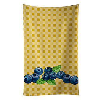 Carolines Treasures  BB7167KTWL Blueberries on Basketweave Kitchen Towel
