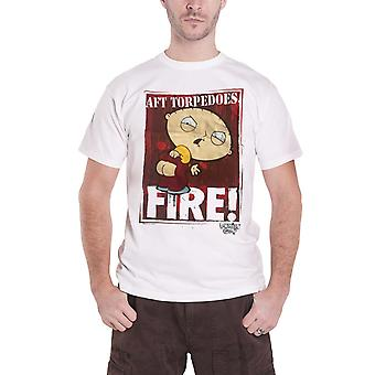 Official Family Guy T Shirt Stewie AFT Torpedoes Fire TV Show Logo new Mens