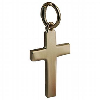 9ct золота 17x10mm равнина цельного крест