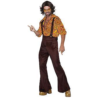 Jive snakk i Disco Dude 1970s 1960s overaller Hippie hippie Groovy Mens drakt