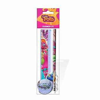 Trolls Childrens/Kids Official 4 Piece Stationery Set
