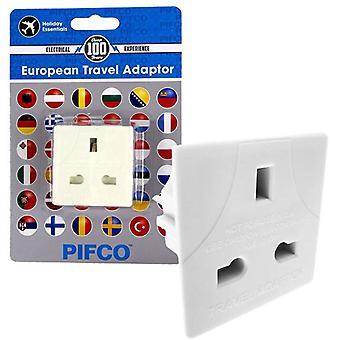 Pifco UK à EU 3 broche à broche 2 prise de l'adaptateur de voyage