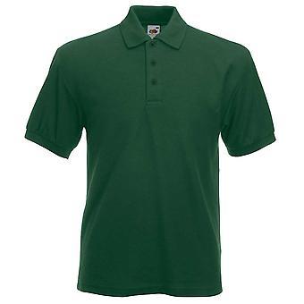 Frukten av den vävstol Mens Heavyweight 65/35 färger Kortärmad Pique Polo Shirt