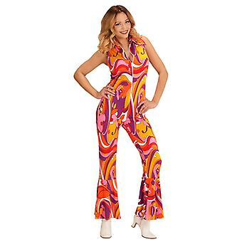 GROOVY 70ER JAHRE LADY JUMPSUIT - ORCHIDEEN