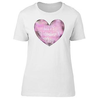 Saint Valentin coeur rose Tee femmes-Image de Shutterstock