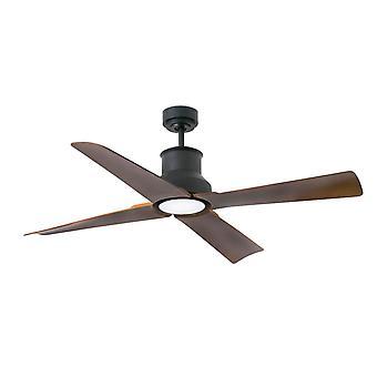 Ventilateur de plafond de DC Winche le noir extérieur avec la lumière de LED