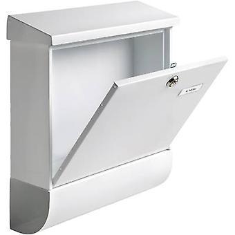 Burg Wächter 31420 VARIO 8672 W Letterbox Steel plate White Key