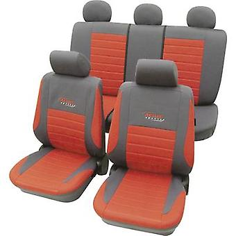 cartrend 60121 Active Seat covers 11-piece Polyester Red Drivers seat, Passenger seat, Back seat