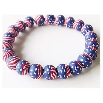 Union Jack Wear USA Stars & Stripes Fimo Braclet
