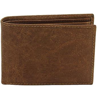 Friedrich leather purse VINTAGE LINE water buffalo Leather Brown RFID protection