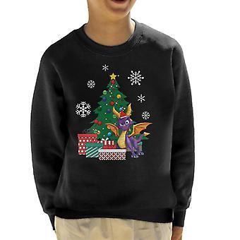 Spyro le Dragon autour Sweatshirt de l'arbre de Noël enfant