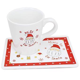 Hjem Christmas melk For Santa krus og hakke Pie sett på julaften