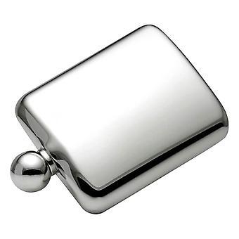 Orton West Ball Cap 6oz Hip Flask - argento