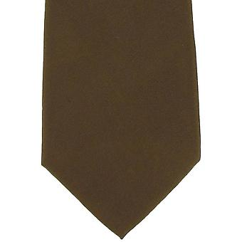Michelsons de gravata de seda liso de Londres - Tan