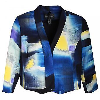 Frank Lyman Roll Collar Edge To Edge Jacket