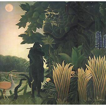 Den Snake sjarmerende, Henri Rousseau, 50x50 cm