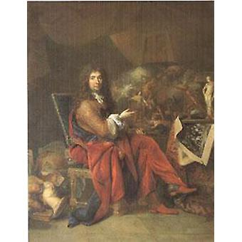 Charles Le Brun Painter to the King, Largillierre, 50x40cm