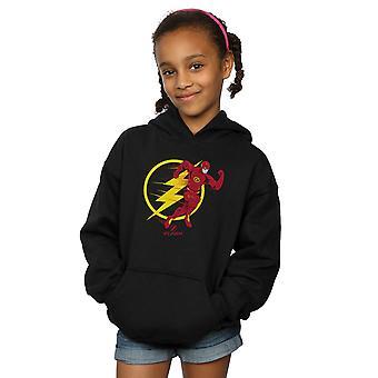 DC Comics tyttöjen Flash käynnissä tunnus huppari