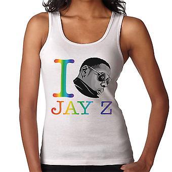 I Heart Jay Z Rainbow Women's Vest
