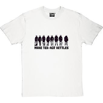 Hacer té no calderas hombres camiseta