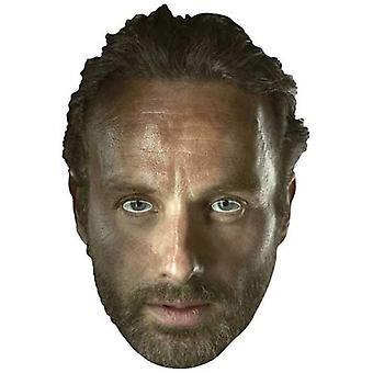 Rick Grimes (Andrew Lincoln) The Walking Dead Party Card Fancy Dress Mask